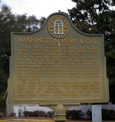 Washington Pump & Oak Marker image. Click for full size.