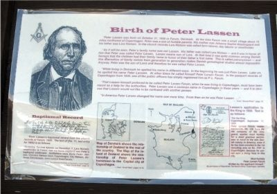 Birth of Peter Lassen Marker image. Click for full size.