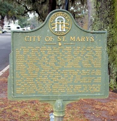 City of St. Marys Marker image. Click for full size.