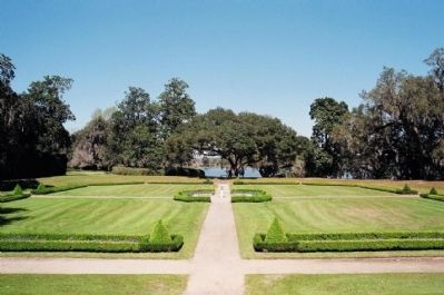 Middleton Place Garden, from the house, as seen today image. Click for full size.