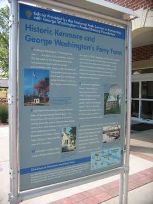 Historic Kenmore and George Washington's Ferry Farm Marker image. Click for full size.