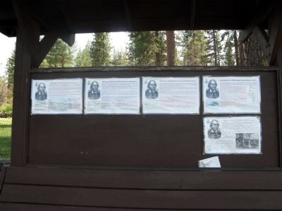 Peter Lassen Information Kiosk at Entrance to Cemetery image. Click for full size.