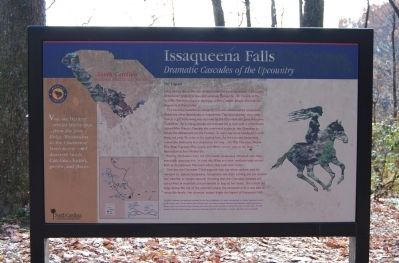 Issaqueena Falls Marker image. Click for full size.