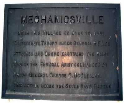 Mechanicsville Marker image. Click for full size.