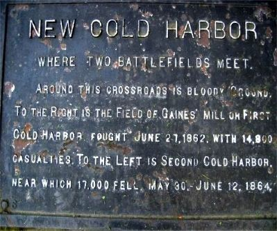 New Cold Harbor Marker image. Click for full size.