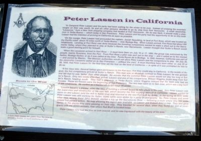 Peter Lassen In California Marker image. Click for full size.