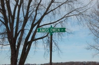 Road Renamed Amos Owen Lane image. Click for full size.
