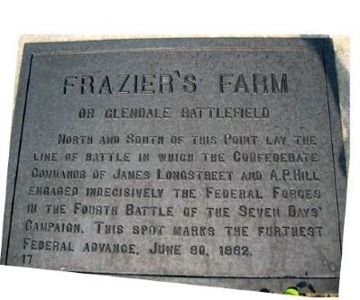 Frazier's Farm Marker image. Click for full size.