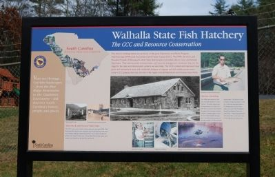 Walhalla State Fish Hatchery Marker image. Click for full size.