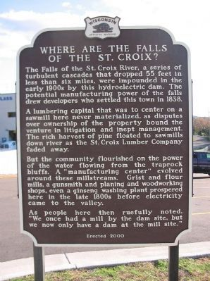 Where are the Falls of the St. Croix? Marker image. Click for full size.