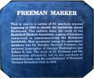National Park Service - Freeman Markers image. Click for full size.
