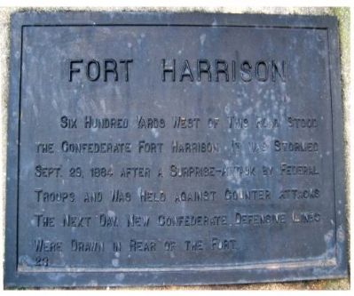 Fort Harrison Marker image. Click for full size.