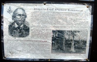 Burial of Peter Lassen Marker image. Click for full size.