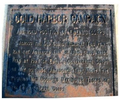 Cold Harbor Campaign Marker image. Click for full size.