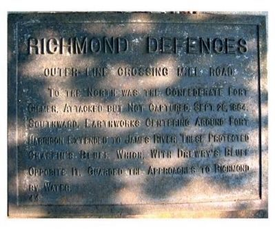 Richmond Defences Marker image. Click for full size.