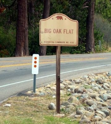 Big Oak State Historic Landmark Directional Sign image. Click for full size.