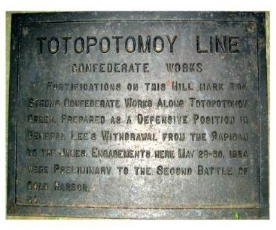 Totopotomoy Line Marker image. Click for full size.