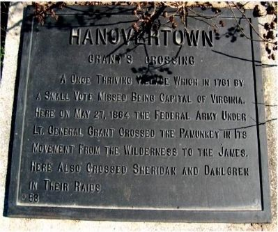 Hanovertown Marker image. Click for full size.