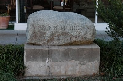 Aaron Burr Rock image. Click for full size.