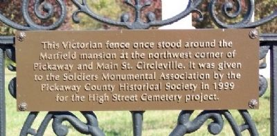 High Street Cemetery Fence Marker image. Click for full size.