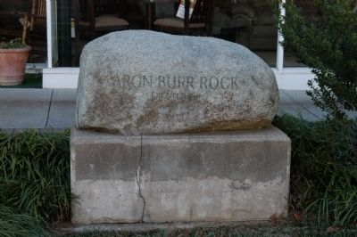 Aaron Burr Rock Marker image. Click for full size.
