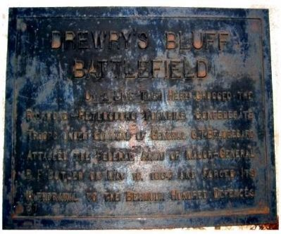 Drewry's Bluff Battlefield Marker image. Click for full size.