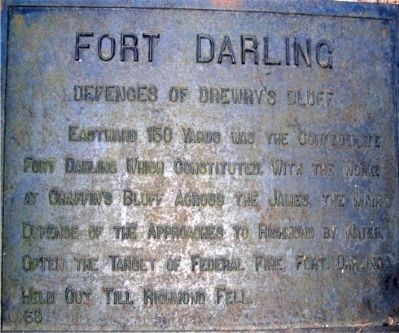 Fort Darling Marker image. Click for full size.