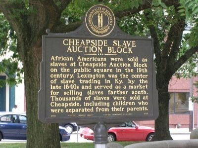 Cheapside Slave Auction Block Marker image. Click for full size.