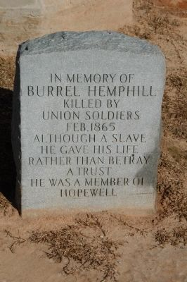 Burrel Hemphill Marker image. Click for full size.