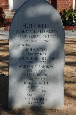 Hopewell ARP Church Marker image. Click for full size.