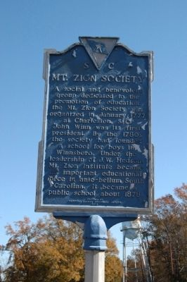 Mt. Zion Society Marker image. Click for full size.