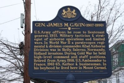 Gen. James M. Gavin Marker image. Click for full size.