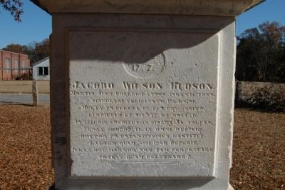 James Wilson Hudson Monument, West Face image. Click for full size.