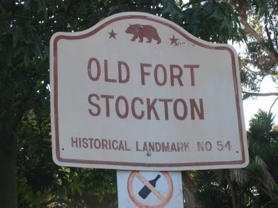 Fort Stockton State Historic Landmark Directional Sign image. Click for full size.