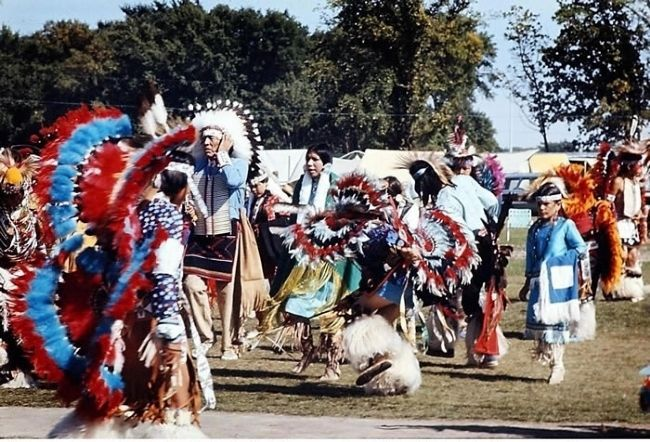 At the First Mahkato Memorial Wacipi in 1972 image. Click for full size.