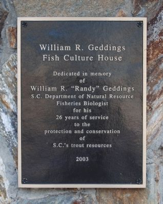William R. Geddings Fish Culture House Marker image. Click for full size.