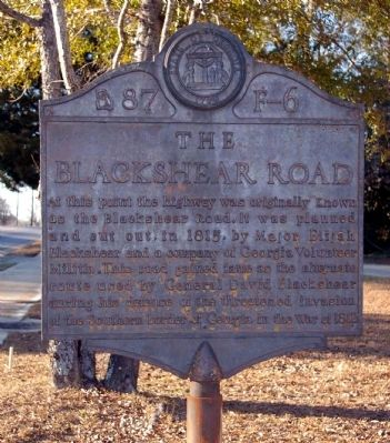 The Blackshear Road Marker image. Click for full size.