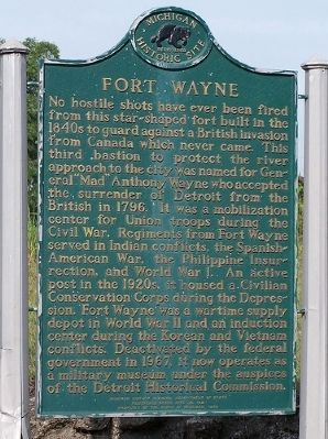Fort Wayne Marker image. Click for full size.