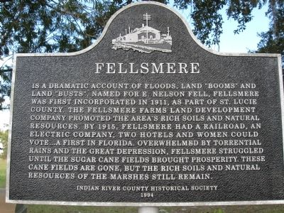 Fellsmere Marker image. Click for full size.