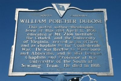 William Porcher Dubose Marker image. Click for full size.