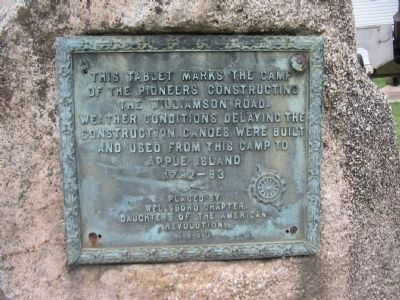 Camp of the Pioneers Marker image. Click for full size.
