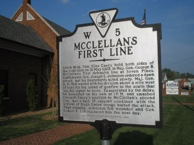 McClellan's First Line Marker image. Click for full size.