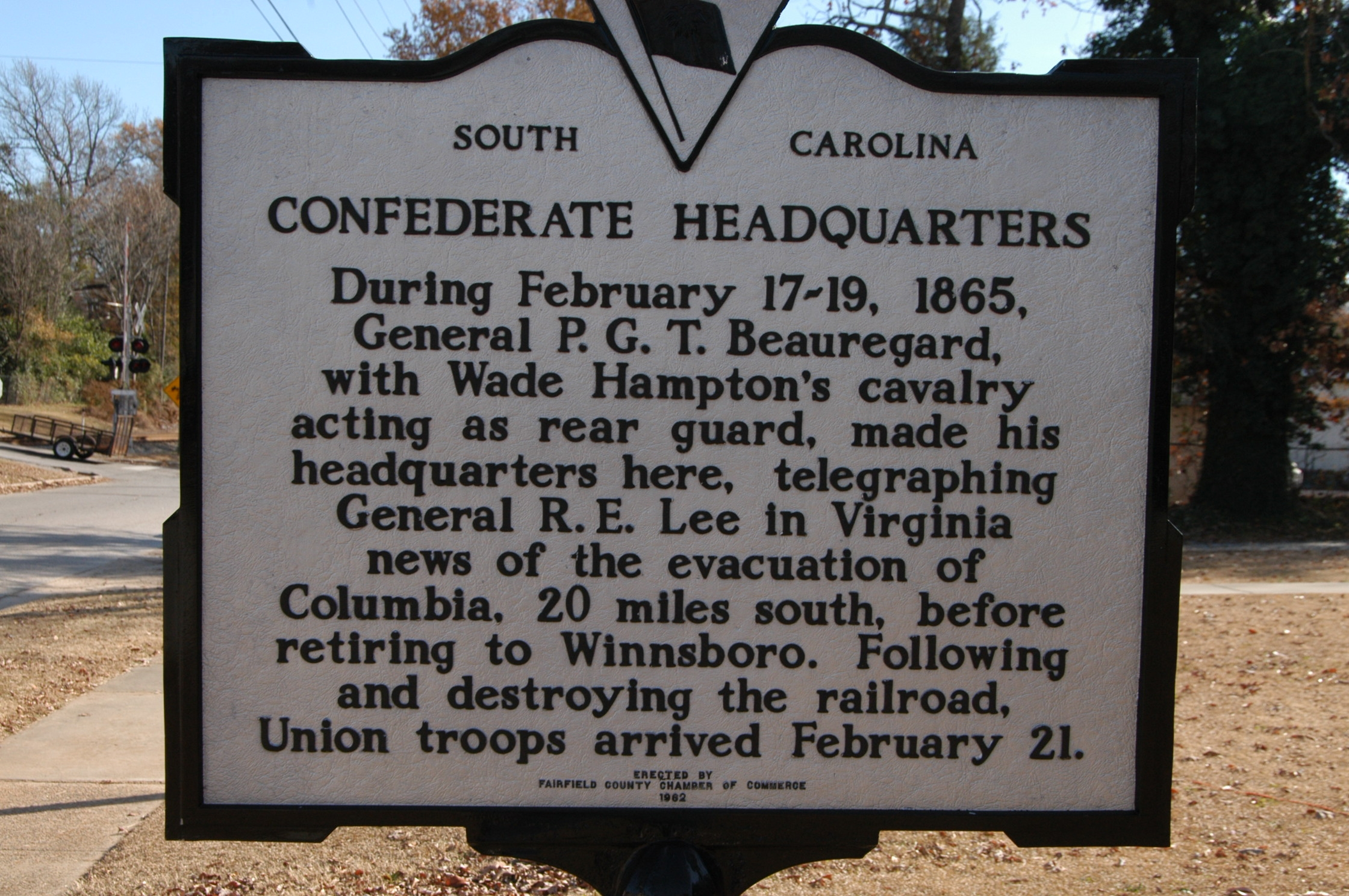 Confederate Headquarters Marker