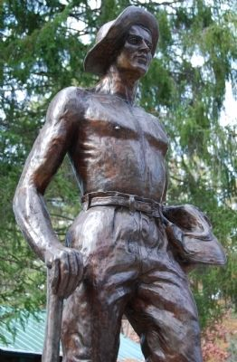 Civilian Conservation Corps Statue Detail image. Click for full size.