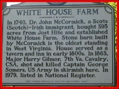 White House Farm Marker image. Click for full size.