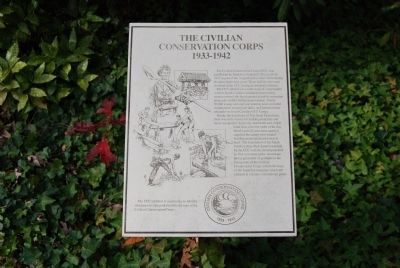 The Civilian Conservation Corps Marker image. Click for full size.