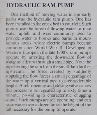 The Oconee Waterwheel Marker: Hydraulic Ram Pump image. Click for full size.
