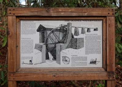 The Oconee Waterwheel Marker image. Click for full size.