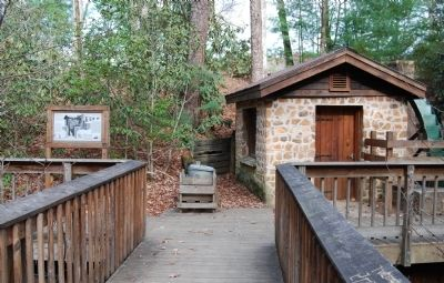 The Oconee Waterwheel and Marker image. Click for full size.