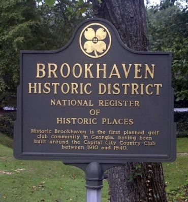 Brookhaven Historic District Marker image. Click for full size.